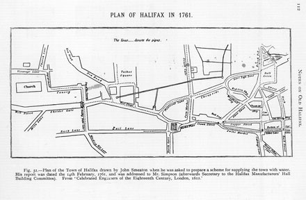 A plan of Halifax in 1761.