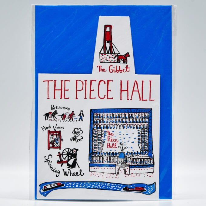 The piece hall drawn greetings card.