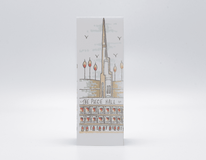 Handcrafted piece hall bookmark.