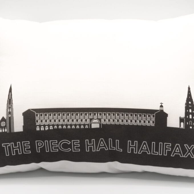 The piece hall silhouetted pillow.