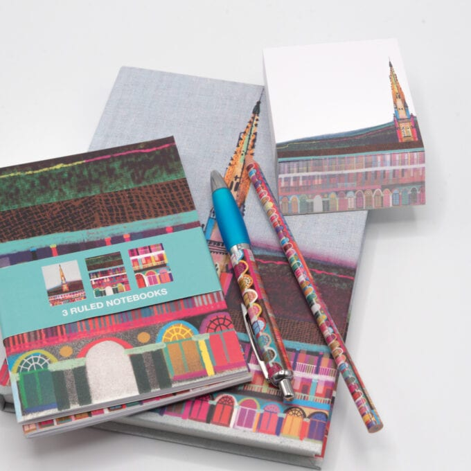 The Piece hall stationary kit.