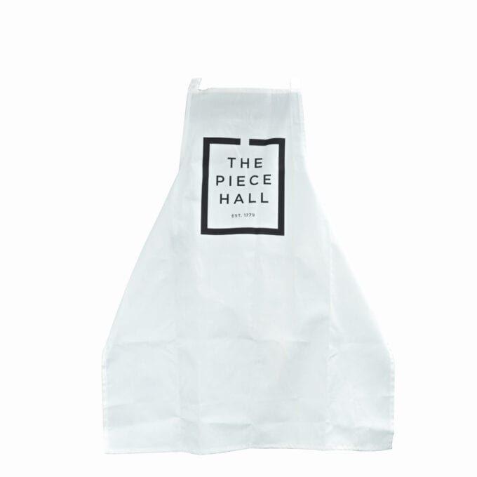 The piece hall apron in white.