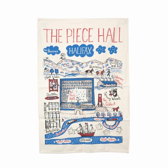 The piece hall tea towel.