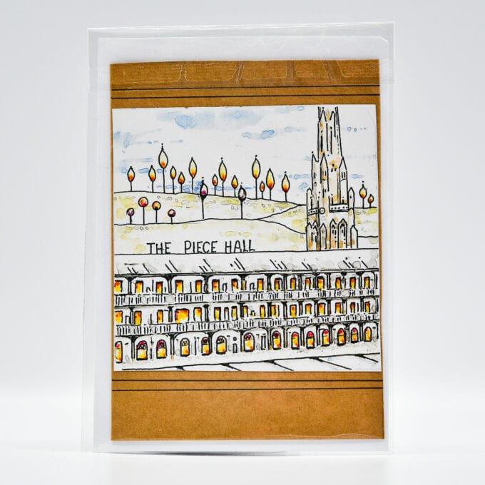 The piece hall handcrafted card.