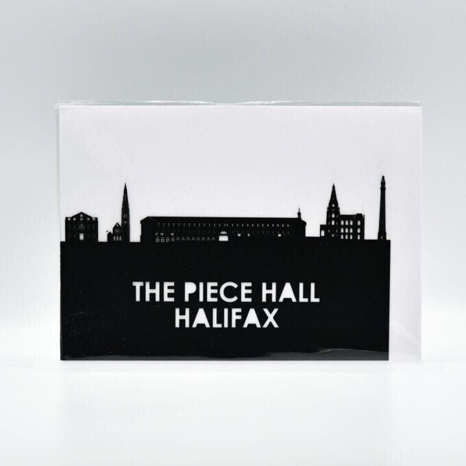 The piece hall laser cut greetings card.