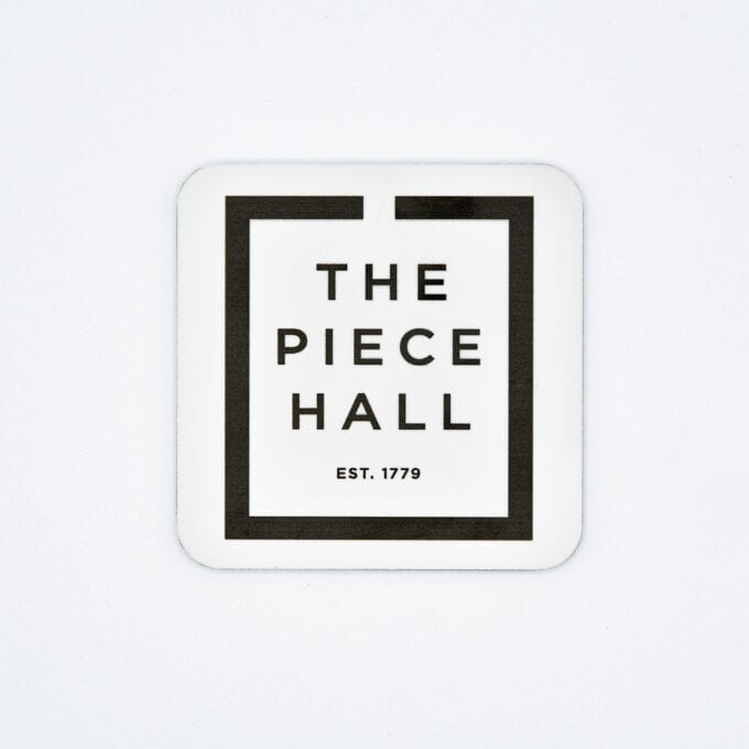 The piece hall coaster in white.