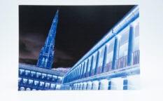 Piece Hall Blue A5 Greeting Card