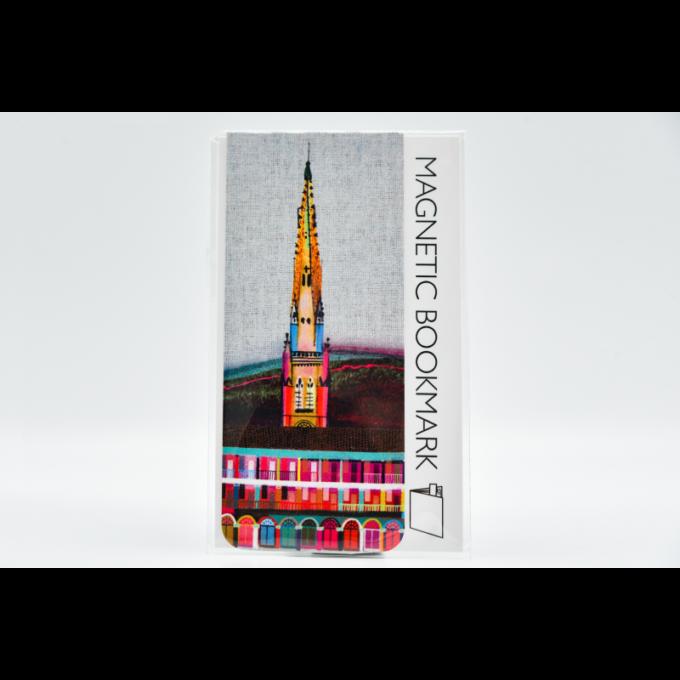 Multicoloured magnetic bookmark.