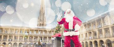Father Christmas comes to The Piece Hall